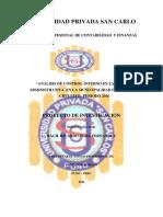 Analisis de Control Interno en La Gestion Administrativo en La Muicipalidad de Chucuito