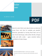 Analysis of Solar Thermal Power Generation Report
