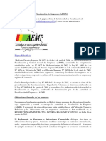Que es la Autoridad de Fiscalización de Empresas (AEMP)?