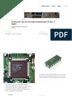 Evolución de Los Microprocesadores INTEL Y AMD