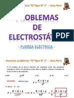 PROBLEMAS RESUELTOS DE ELECTRSOTATICA