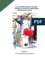 Manual de Operación Del Caldero Pirotubular De Taller de Operaciones Unitarias