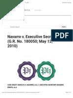 Navarro v. Executive Secretary (G.R. No. 180050; May 12, 2010)