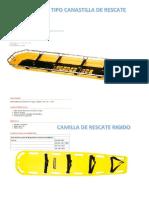 Especificacion Camillas de Rescate