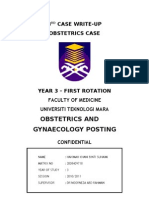 Case Write-Up - Obstetrics - Gestational Diabetes Mellitus