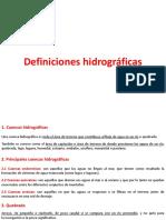 10.Definiciones Hidrograficas Basicas