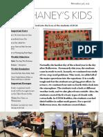 Mr. Haney's Week 12 Newsletter