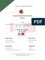 Internship report for Bharti Airtel