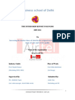 Internship report for Bharti Airtel