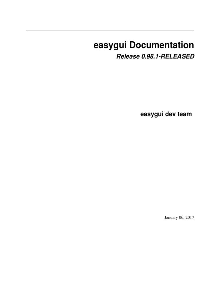 Easy Gui | Parameter (Computer Programming) | File Format