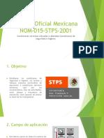 Norma Oficial Mexicana Nom 015 Stps 2001