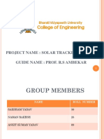Sun Tracking System Project