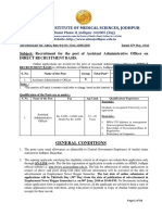Advertisement- Assistant Administrative Officer - English