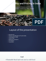 Coal Quality and Pricing in India