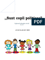 Optional Educație Civica - Grupa Mare