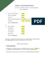 Vzor dohody o provedení práce