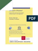 Construction Sociale de La Masculinité, Relations de Genre Et Développement