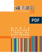 Balkan Civic Practices no.4 Media Relations - Guide for Civil Society Organisations