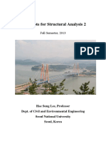 Class Notes on Structural Analysis-2 for Stiffness & Flexibility Method of Matrix By HSL