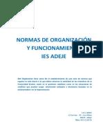 Normas de Organización y Funcionamiento 2017