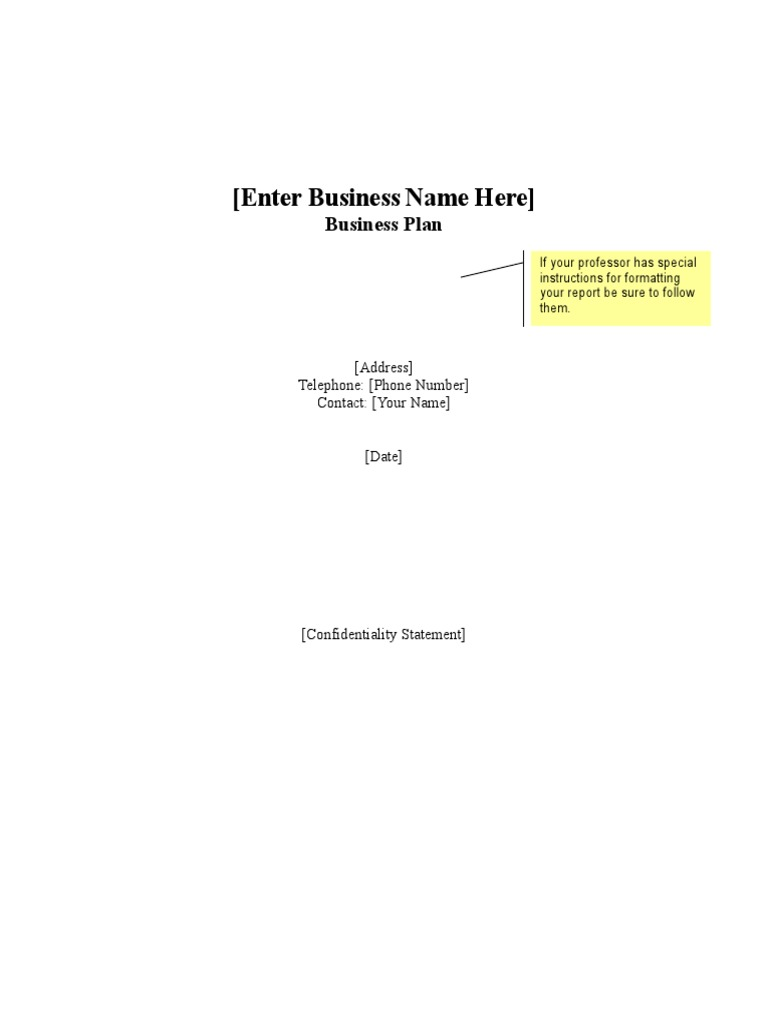 Business plan template business plan employment wajeb Images