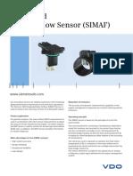 Mass Airflow Sensor Simaf Datasheet Siemens VDO