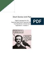 short stories unit plan 20-1