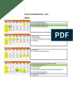 Poli USP - Calendário Quadrimestral 2016