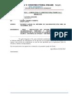 Carta Frami S.A.C