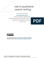 A Guide to Qualitative Research Writing