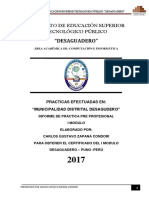 INFORME  DE PRACTICAS MODULO I