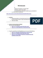 PMI PBA Study Plan