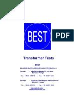 BEST Transformer Test Procedures En