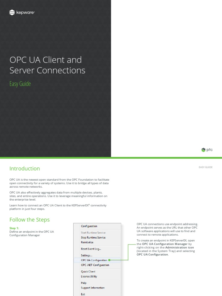 Opc Ua Client Server Easy Guide | Public Key Certificate | Server