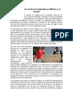 Discriminación Contra Los Migrantes en México y El Mundo