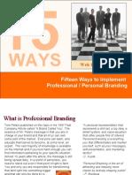 15 Ways to Professionally Brand You120