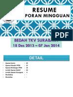 Resume Laporan Mingguan 08 Jan 2014
