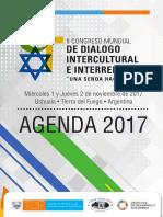 """II Congreso Mundial de Diálogo Intercultural e Interreligioso """"Una senda hacia la Paz"""" - Cronograma original"""