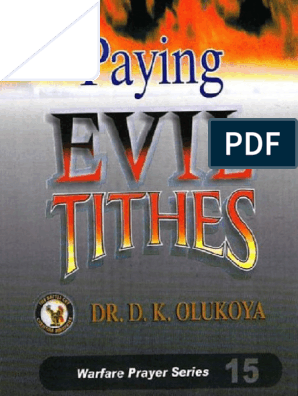 Paying Evil Tithes - D  K  Olukoya | Tithe | Witchcraft