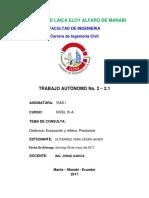 DESBROCE, EXCAVACION Y RELLENO