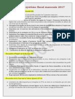 Résumé de Système Fiscal Marocain 2017