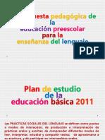 UII. 2.2 La Propuesta Pedagógica de La Educación Preescolar Para La Enseñanza Del Lenguaje