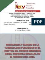 Prevalencia y Manejo de La Tuberculosis Pulmonar En