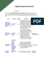 List of Online Digital Musical Document Libraries