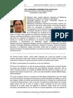 Entrevista al bibliotecario Fernando Gabriel Gutiérrez en el Boletín electrónico ABGRA