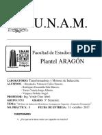 Práctica No. 7 - Lab. Transformadores y Motores de Inducción.