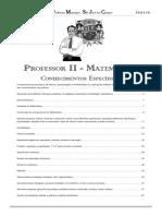 São Jose Dos Campos - Professor II - MATEMÁTICA (Especifico 2017)