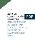 Acta de Constitucion de Proyecto Parte 1