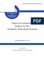 Kentucky Legislative Pension Report on Quasi Governmental Entities 2015