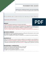 Procedimiento Para Adquisiciones y Compras de Sst